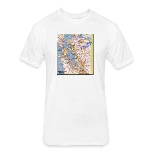 Phillips 66 Zodiac Killer Map June 26 - Fitted Cotton/Poly T-Shirt by Next Level