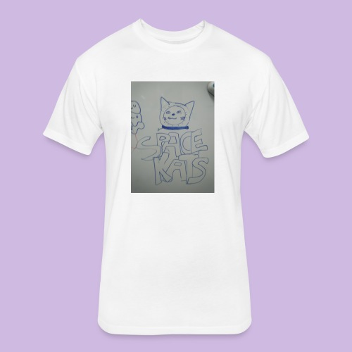 Space kats first design - Fitted Cotton/Poly T-Shirt by Next Level