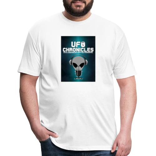 UFO Chronicles Logo with Grey Mike - Fitted Cotton/Poly T-Shirt by Next Level