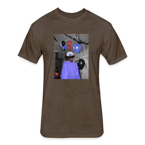 bruise - Fitted Cotton/Poly T-Shirt by Next Level