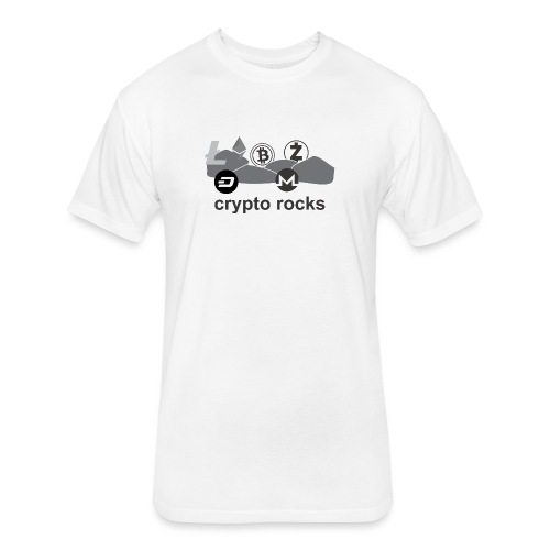 cryptorocks t-shirt - Fitted Cotton/Poly T-Shirt by Next Level