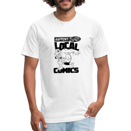 Support Local Comics NDC By Geoff Munn - Fitted Cotton/Poly T-Shirt by Next Level