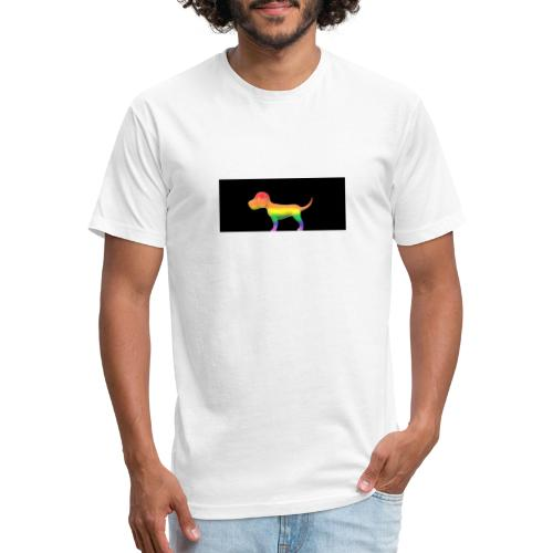 Gay dog - Fitted Cotton/Poly T-Shirt by Next Level
