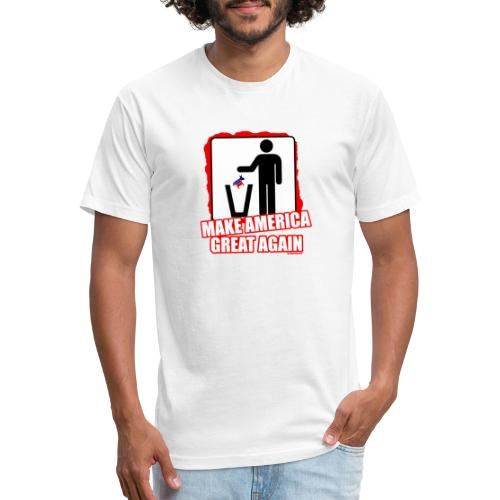 MAGA TRASH DEMS - Fitted Cotton/Poly T-Shirt by Next Level