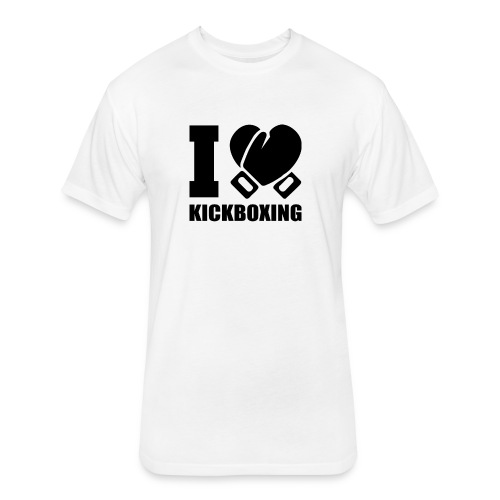 I Love Kickboxing - Fitted Cotton/Poly T-Shirt by Next Level