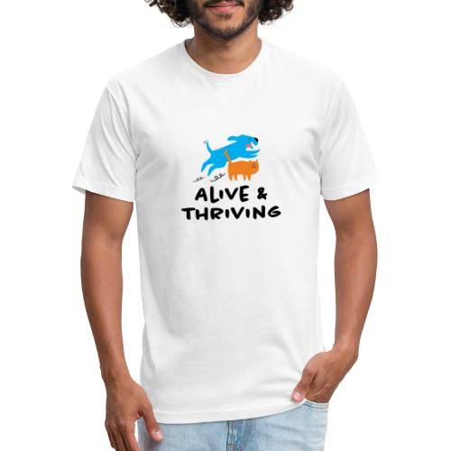Alive Thriving Animal Behavior Program - Fitted Cotton/Poly T-Shirt by Next Level