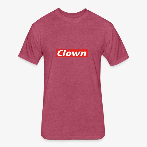 Clown box logo - Fitted Cotton/Poly T-Shirt by Next Level