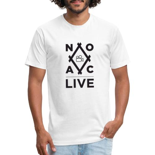 NOAC Live Black Logo - Fitted Cotton/Poly T-Shirt by Next Level