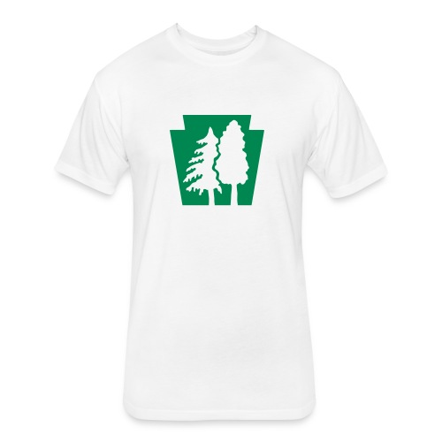 PA Keystone w/trees - Fitted Cotton/Poly T-Shirt by Next Level