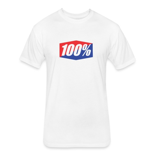100% Logo Design - Fitted Cotton/Poly T-Shirt by Next Level