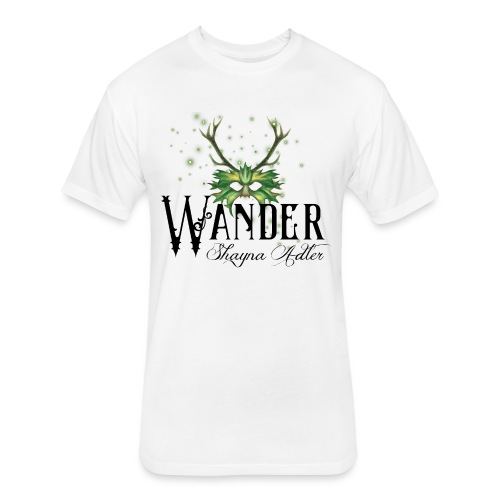 Wander in Green - Fitted Cotton/Poly T-Shirt by Next Level