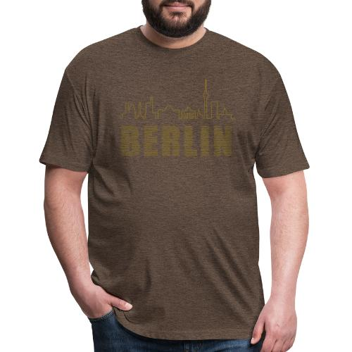 Skyline of Berlin - Fitted Cotton/Poly T-Shirt by Next Level