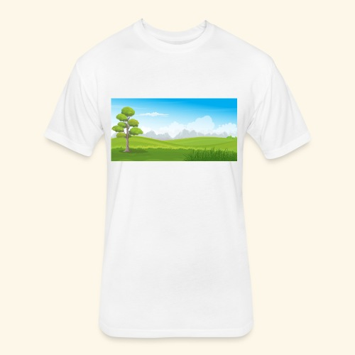 Hills cartoon - Fitted Cotton/Poly T-Shirt by Next Level