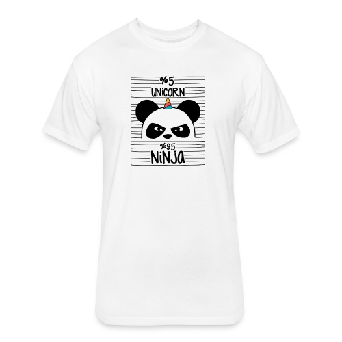 Unircorn Panda Ninja - Fitted Cotton/Poly T-Shirt by Next Level