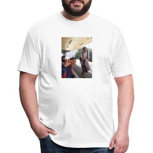 VOOMASS at the train station - Fitted Cotton/Poly T-Shirt by Next Level