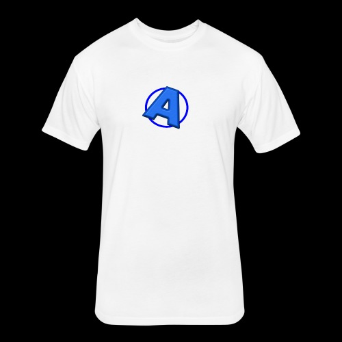Awesomegamer Logo - Fitted Cotton/Poly T-Shirt by Next Level