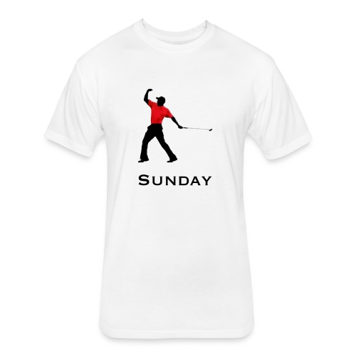 Sunday Red - Fitted Cotton/Poly T-Shirt by Next Level