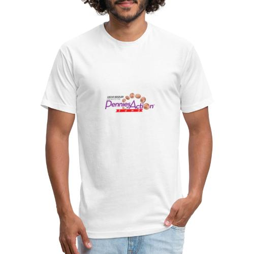 Pennies In Action Logo - Fitted Cotton/Poly T-Shirt by Next Level