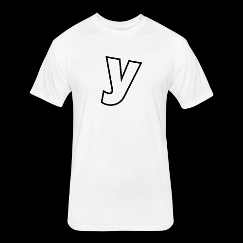 Logo Black-Line - Fitted Cotton/Poly T-Shirt by Next Level