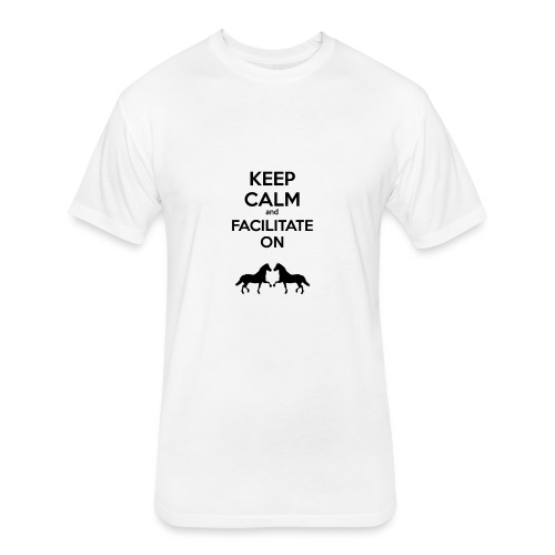 keep calm - Fitted Cotton/Poly T-Shirt by Next Level