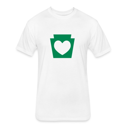 Love/Heart PA Keystone - Fitted Cotton/Poly T-Shirt by Next Level