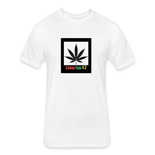 Canna Fams #2 design - Fitted Cotton/Poly T-Shirt by Next Level
