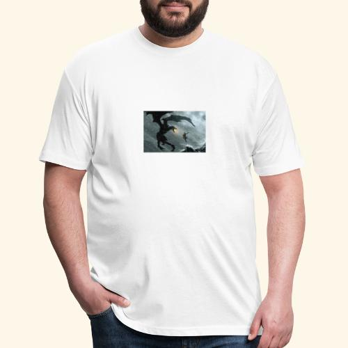 elderscrolls dragon fight- Meme Worthy Apparel - Fitted Cotton/Poly T-Shirt by Next Level