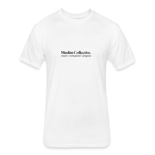 Muslim Collective Logo + tagline - Fitted Cotton/Poly T-Shirt by Next Level