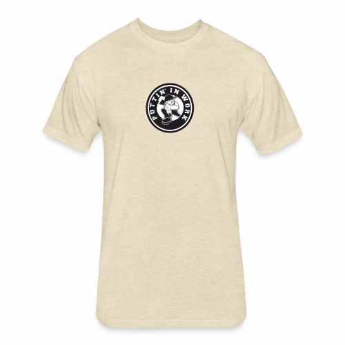 Solid Puttin' In Work Logo - Fitted Cotton/Poly T-Shirt by Next Level