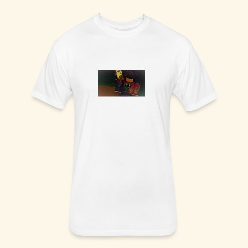 (roblox logo) - Fitted Cotton/Poly T-Shirt by Next Level