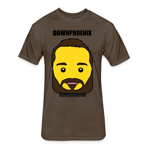 Downphoenix Face Mode - Fitted Cotton/Poly T-Shirt by Next Level