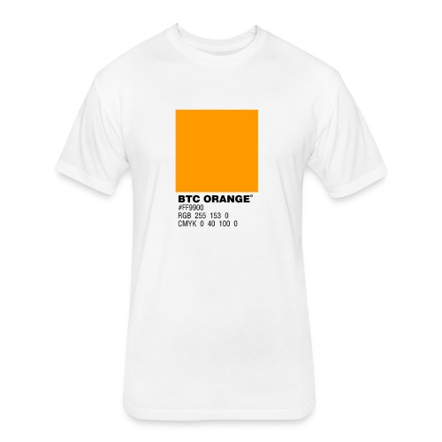 BTC Orange (Bitcoin Tshirt) - Fitted Cotton/Poly T-Shirt by Next Level