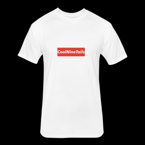 CoolNineTails supreme logo - Fitted Cotton/Poly T-Shirt by Next Level