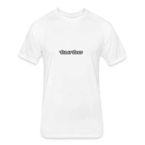 VL Turbo White - Fitted Cotton/Poly T-Shirt by Next Level