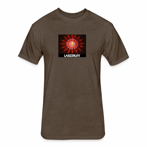 LASERIUM Laser starburst - Fitted Cotton/Poly T-Shirt by Next Level