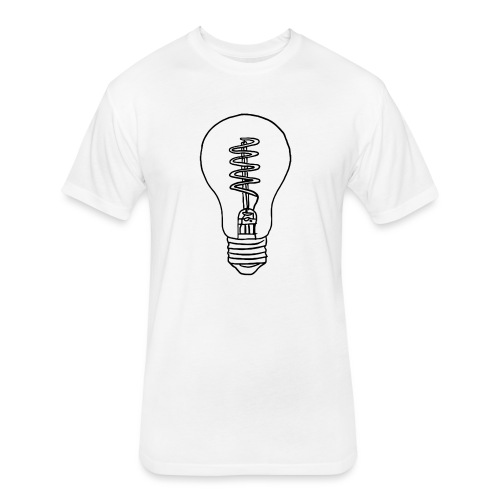 Vintage Light Bulb - Fitted Cotton/Poly T-Shirt by Next Level