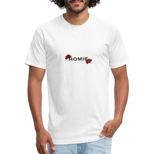 HOMIE ROSE BLKFONT - Fitted Cotton/Poly T-Shirt by Next Level