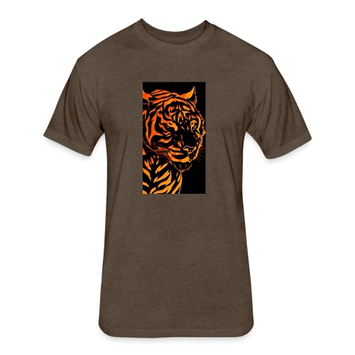 Fire tiger - Fitted Cotton/Poly T-Shirt by Next Level