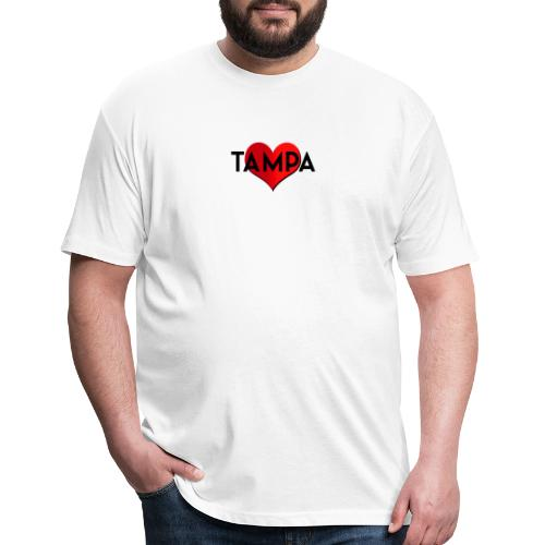 Tampa Love - Fitted Cotton/Poly T-Shirt by Next Level