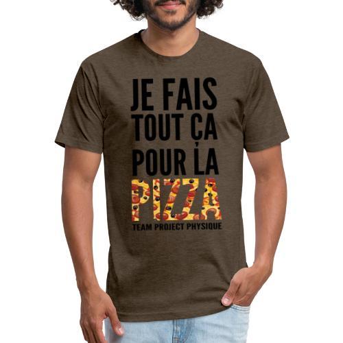 POUR LA PIZZA - T-shirt ajusté poly/coton pour hommes