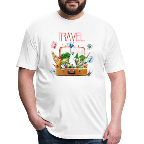 TRAVEL T-SHIRT - Fitted Cotton/Poly T-Shirt by Next Level