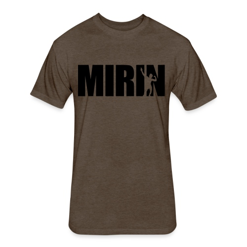 Zyzz Mirin Pose text - Fitted Cotton/Poly T-Shirt by Next Level