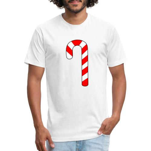 Candy Cane - Fitted Cotton/Poly T-Shirt by Next Level