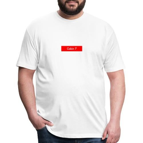 Cabin 7 red box small - Fitted Cotton/Poly T-Shirt by Next Level