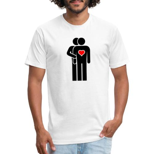 MAN LOVE HEART No. 001 - Fitted Cotton/Poly T-Shirt by Next Level