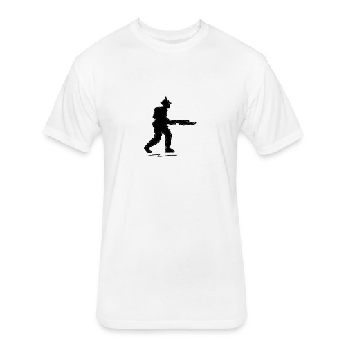 ww1 infantry - Fitted Cotton/Poly T-Shirt by Next Level