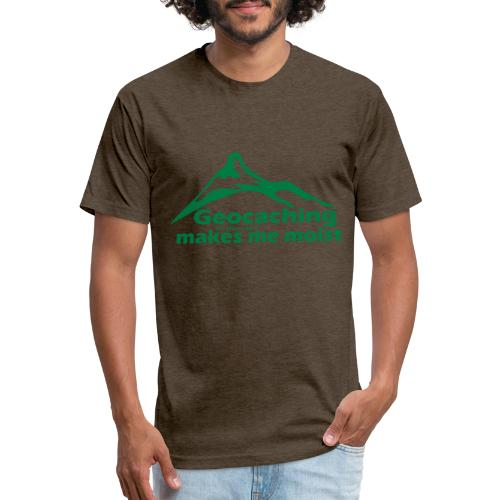 Geocaching in the Rain - Fitted Cotton/Poly T-Shirt by Next Level
