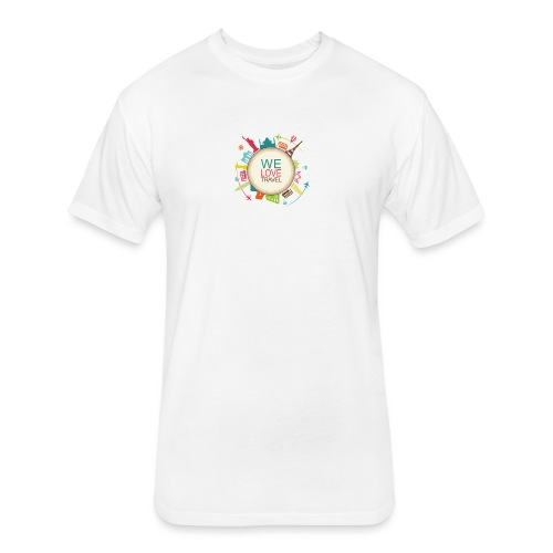 logo welovetravel - Fitted Cotton/Poly T-Shirt by Next Level