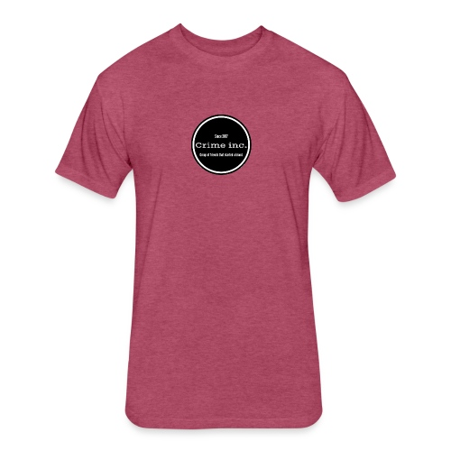 Crime Inc Small Design - Fitted Cotton/Poly T-Shirt by Next Level