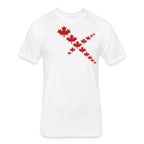Maple Leafs Cross - Fitted Cotton/Poly T-Shirt by Next Level